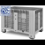 11.602.91.PE.C10, Пластиковый контейнер iBox 1200х800 (перфорированный, на ножках)