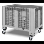 11.602.91.PE.C13  Пластиковый контейнер iBox 1200х800 (перфорированный, на колесах)