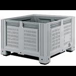 Пластиковый контейнер iBox 1130x1130x760 (перфорированный, на ножках)